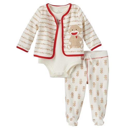 68b96fdea3 Baby Neutral Baby Starters Sock Monkey Pajama Set