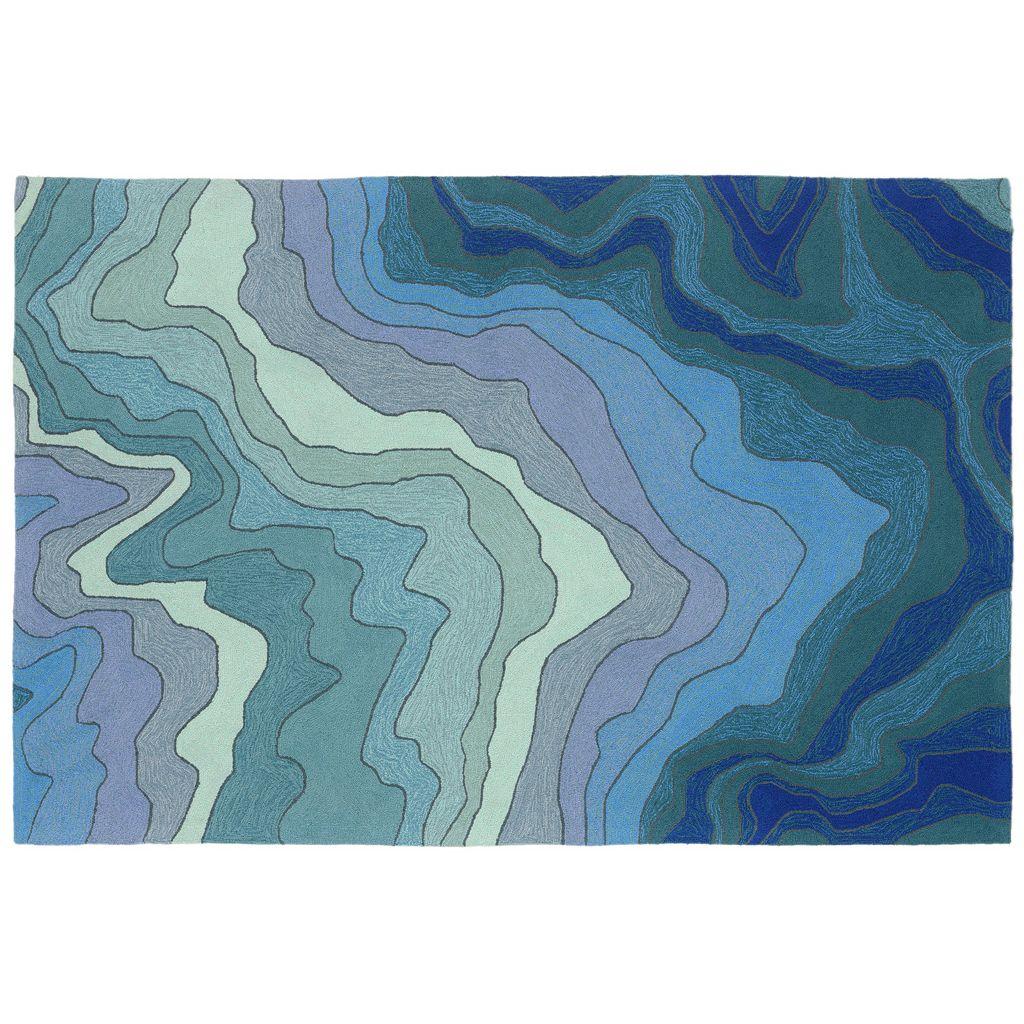 Trans Ocean Imports Liora Manne Mirage Tweed Striped Indoor Outdoor Rug