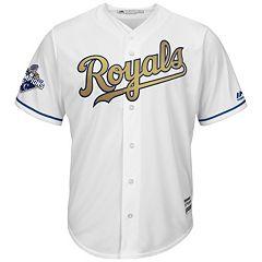 Men's Majestic Kansas City Royals 2015 World Series Champions Replica MLB Jersey