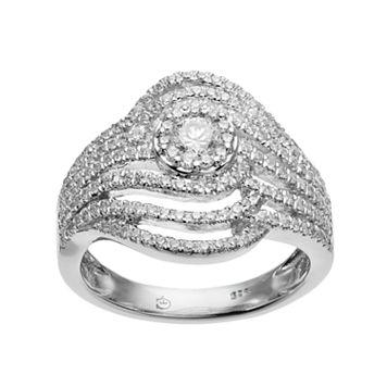 10k White Gold 1 Carat T.W. Diamond Ring