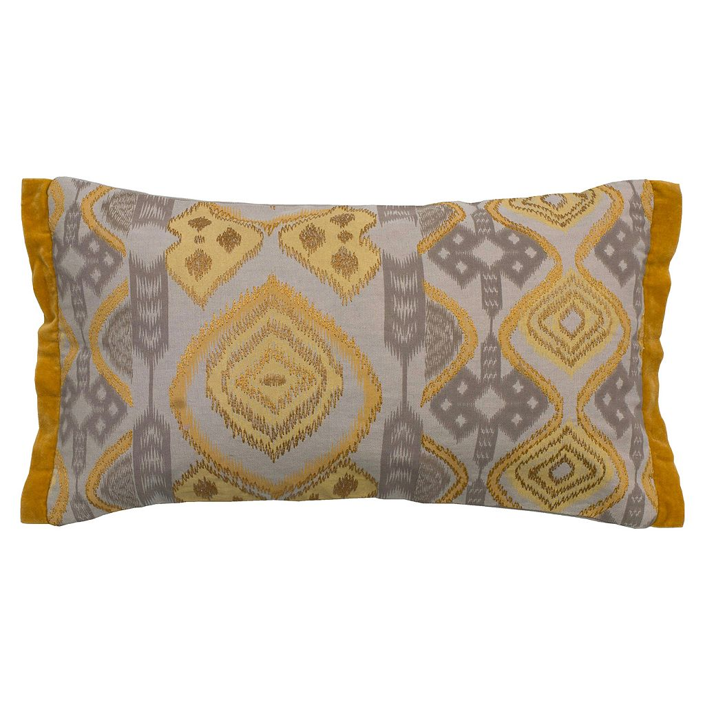Rizzy Home Embroidered Abstract Throw Pillow