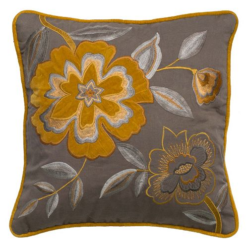 Rizzy Home Soft Floral Throw Pillow