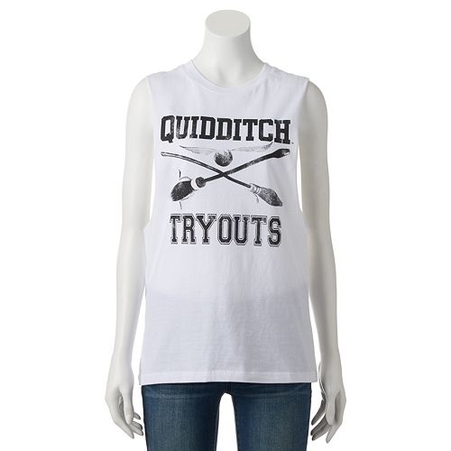 e065157ac0a92 Juniors  Harry Potter   Quidditch Tryouts   Muscle Tee
