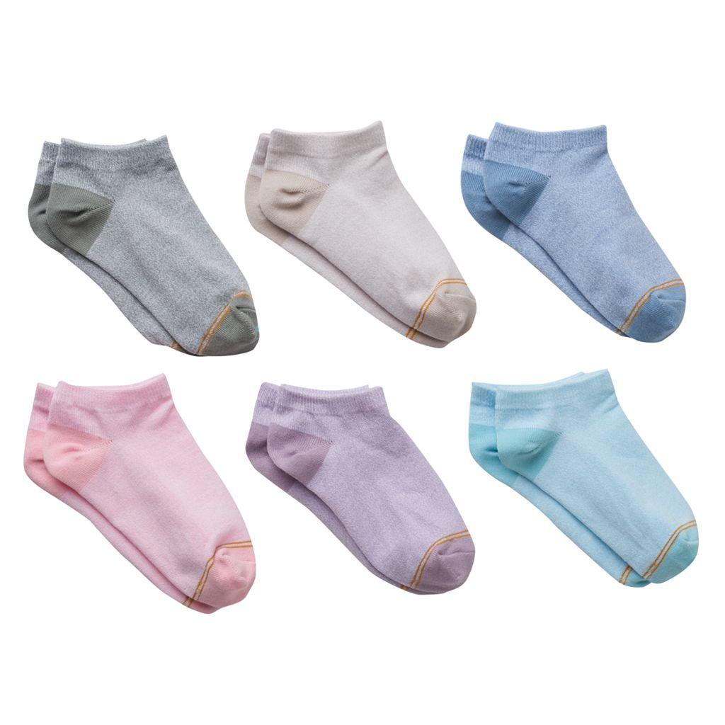 Girls 7-16 GOLDTOE 6-pk. Marled Liner Socks