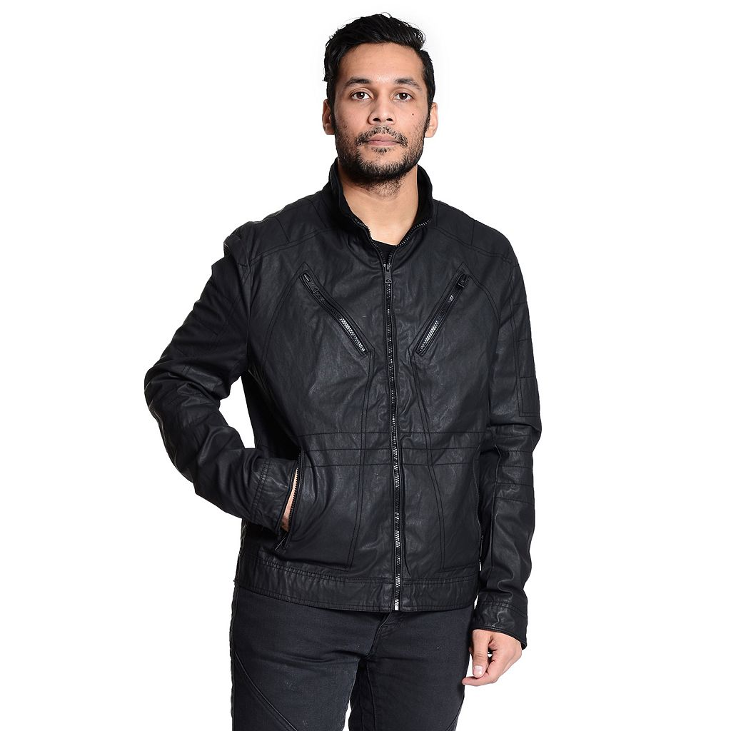 Men's Excelled Slim-Fit Moto Jakcet