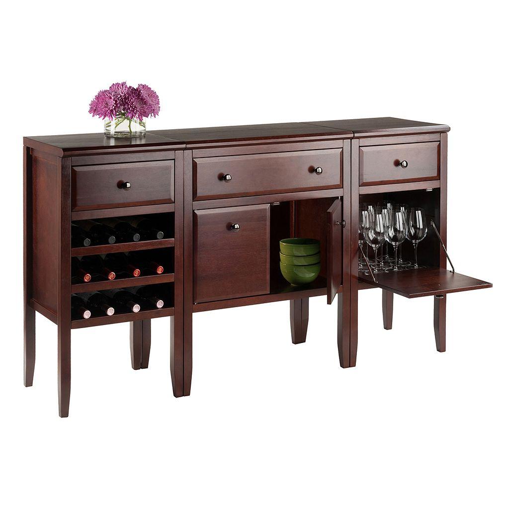 Winsome Orleans Modular Buffet Table 3-piece Set