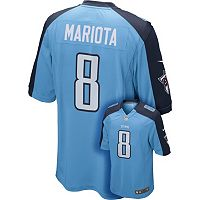 Men's Nike Tennessee Titans Marcus Mariota Game NFL Replica Jersey