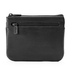 Buxton Hudson Pik-Me-Up Leather Coin & Card Pouch