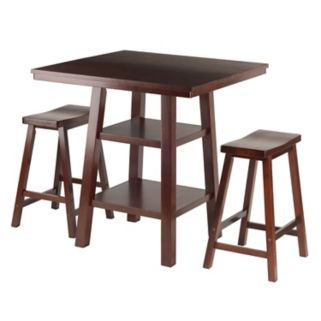 Winsome Orlando High Table & Counter Stool 3-piece Set