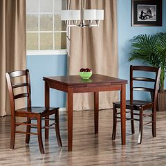Winsome Pulman Extension Dining Table 3-piece Set