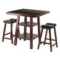 Winsome Orlando High Table & Padded Stool 3 pc Set