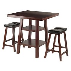 Winsome Orlando High Table & Padded Stool 3-piece Set