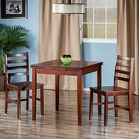 Winsome Pulman Extension Table & Chair 3 pc Set