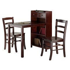 Winsome Tyler High Table and Ladder Back Chair 3-piece Set