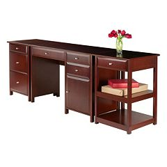 Winsome Delta Home Office Desk 3-piece Set
