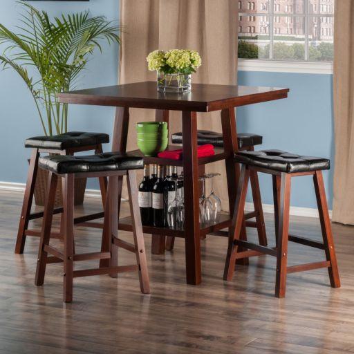 Winsome Orlando High Table & Stools 5-piece Set