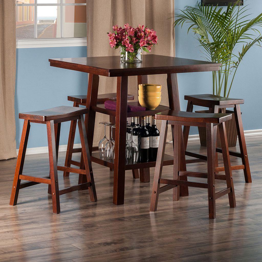 Winsome Orlando High Table & Stool 5-piece Set