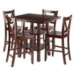 Winsome Orlando High Table & V-Back Stool 5 pc Set