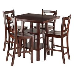 Winsome Orlando High Table & V-Back Stool 5 pc Set