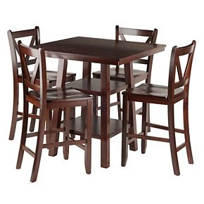 Winsome Orlando High Table & V-Back Stool 5-piece Set