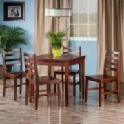 Winsome Pulman Extension Table & Ladder Back Chair 5-piece Set