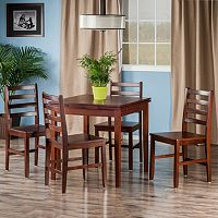 Winsome Pulman Extension Table & Ladder Back Chair 5 pc Set