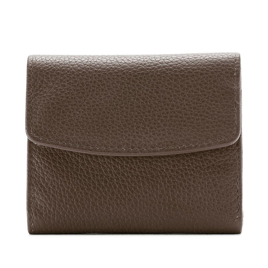 Buxton Hudson Pik-Me-Up Mini Trifold Leather Wallet