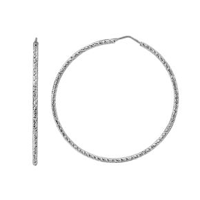 Silver Classics Sterling Silver Wire Hoop Earrings