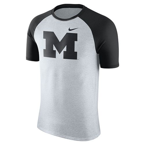 Men's Nike Michigan Wolverines Raglan Tee