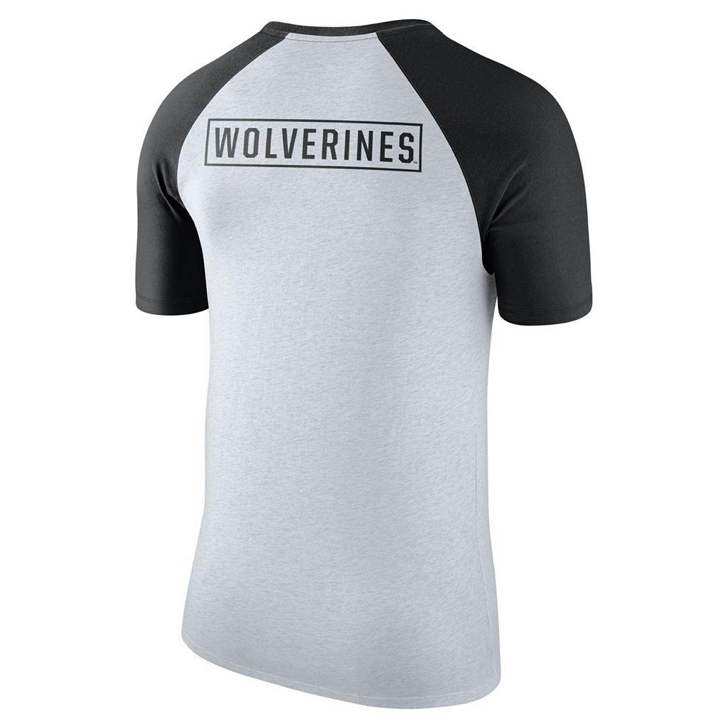 Men's Nike Michigan Wolverines Raglan Tee