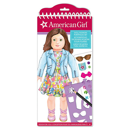 American Girl Fashion Design Sketch Portfolio