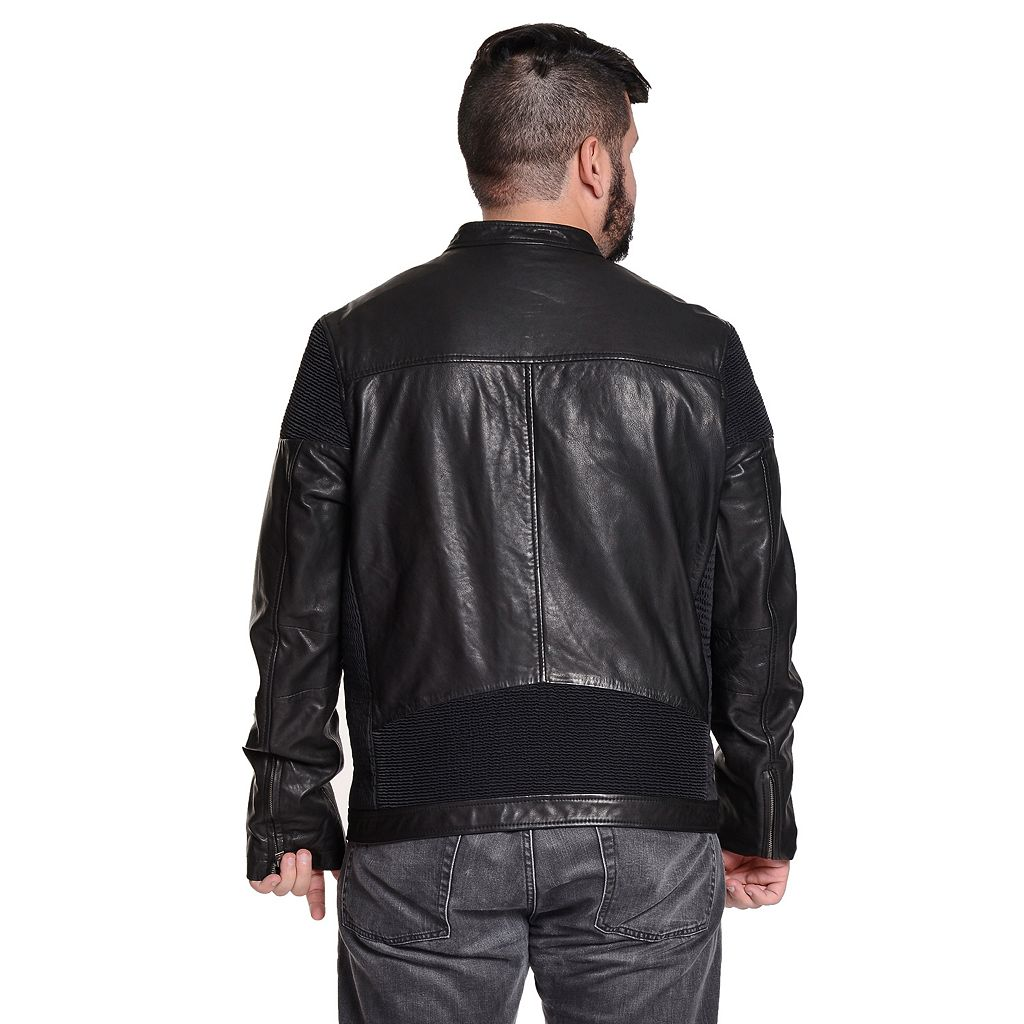Men's Excelled Vintage Leather Moto Jacket
