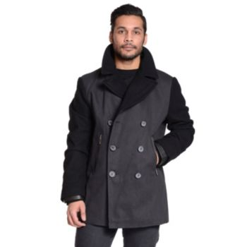 Men's Excelled Double-Breasted Peacoat