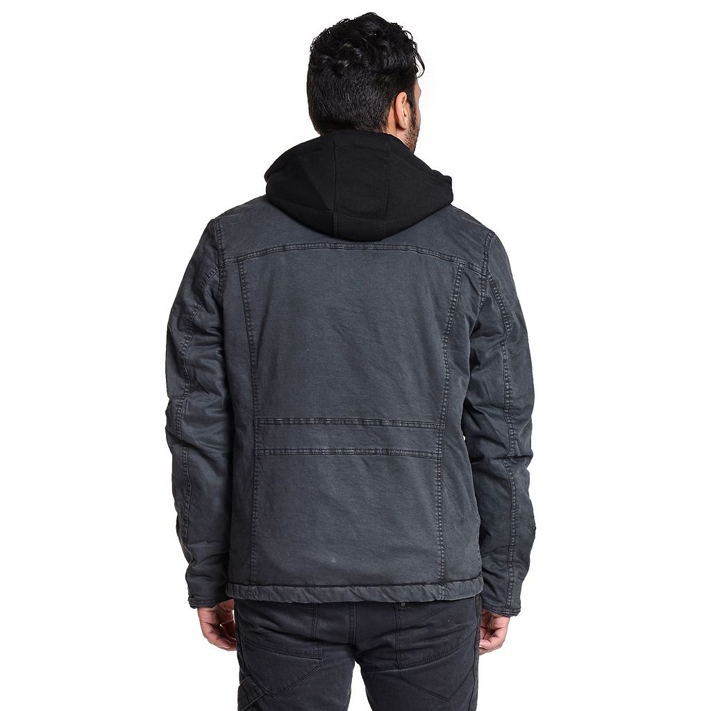 Men's Excelled Peached Hooded Jacket