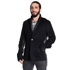 Men's Excelled Leather-Trim Blazer