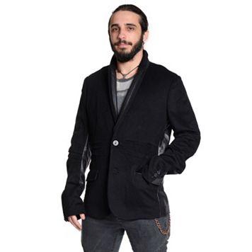 Men's Excelled Leather-Trim Blazer