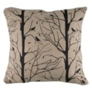 Rizzy Home Birds in Trees Throw Pillow