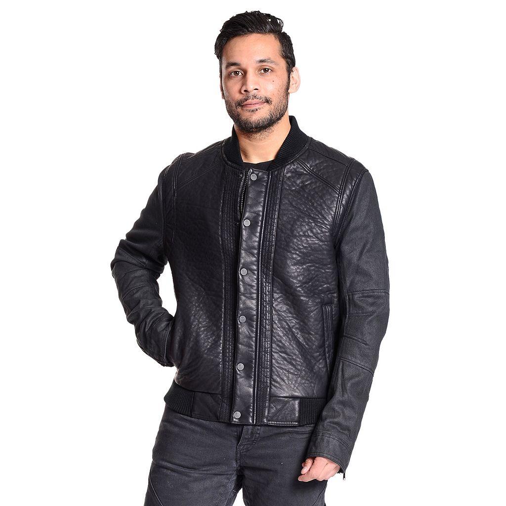 Men's Excelled Faux-Leather Varsity Jacket