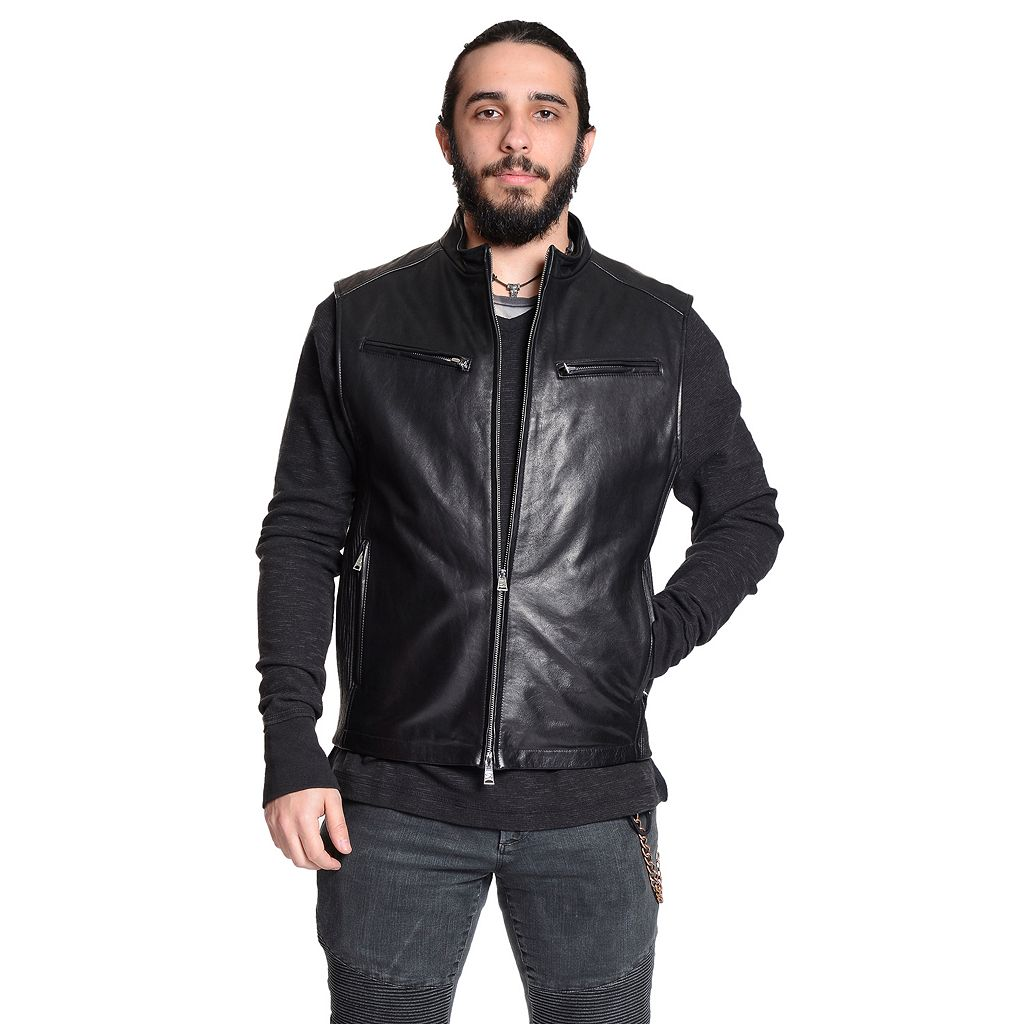 Men's Excelled Leather Moto Vest