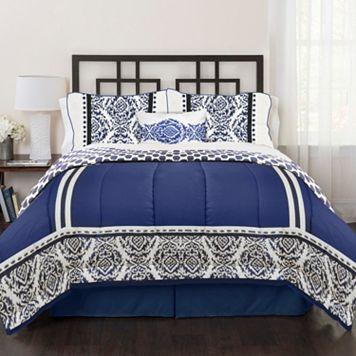 Republic India Loft Blue 4-piece Bed Set