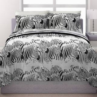 Republic Zebra Stampede Reversible Bedding Set