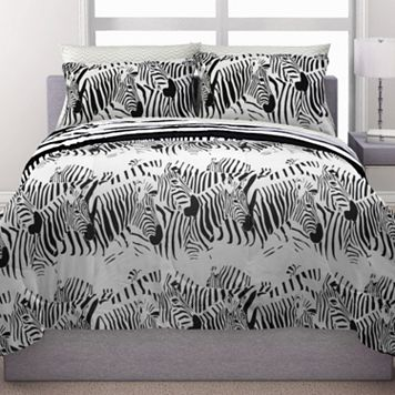 Republic Zebra Stampede Reversible Bedding Set