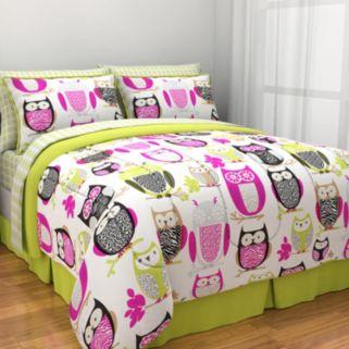Sketchy Owl Bedding Set