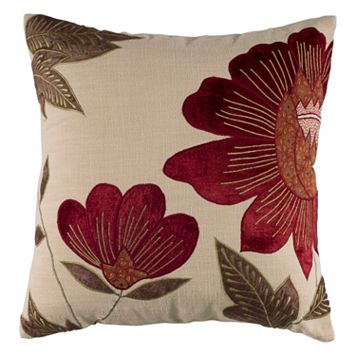Rizzy Home Country Floral Throw Pillow