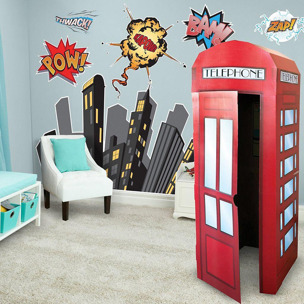Superhero Comic Wall Decal & Standup Kit