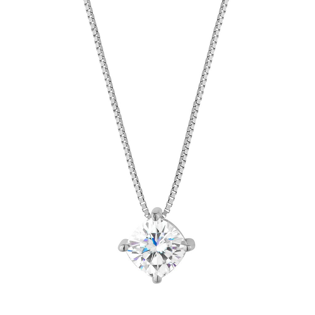 Forever Brilliant 14k Gold 3/4 Carat T.W. Lab-Created Moissanite Pendant