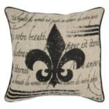 Rizzy Home Fleur de Lis Throw Pillow