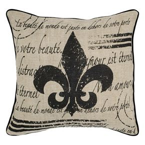 Rizzy Home Fleur de Lis Throw Pillow