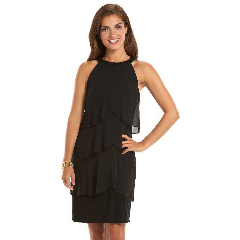 Women's Chaps Tiered Shift Dress