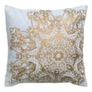 Rizzy Home Metallic Floral Throw Pillow